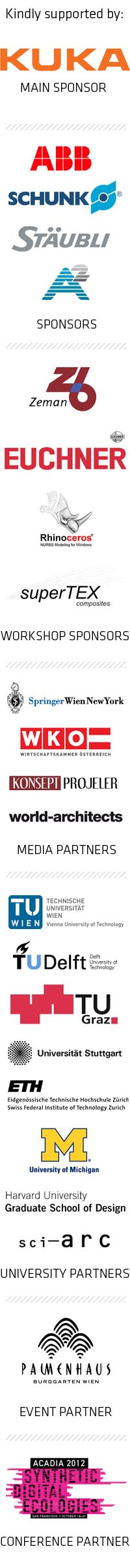 RobArch2012 Sponsors